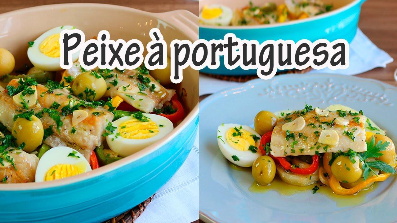 Peixe à portuguesa uma delícia
