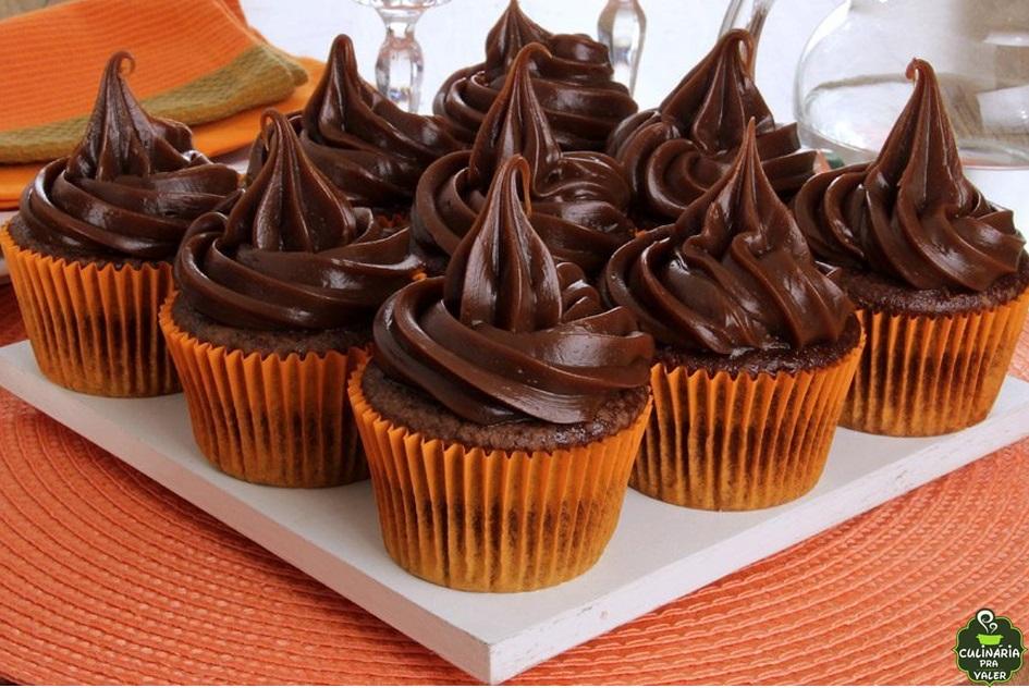 Cupcake de chocolate maravilhoso