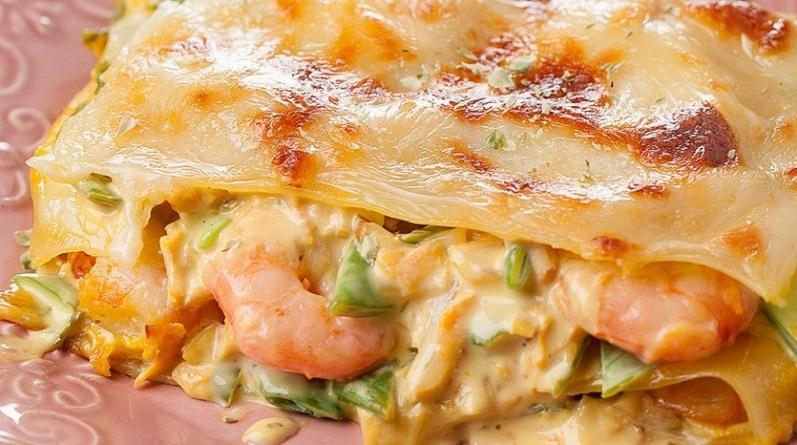 Lasanha de camarão – uma explosão de sabor, uma delícia