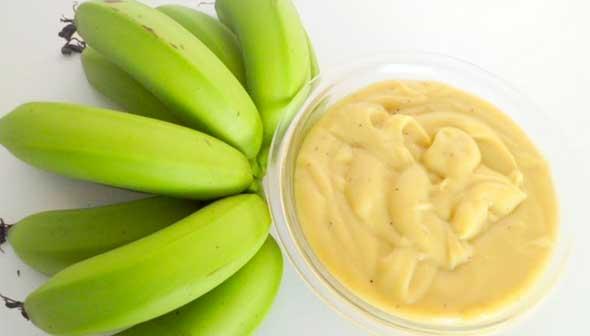 Como fazer a biomassa de banana verde