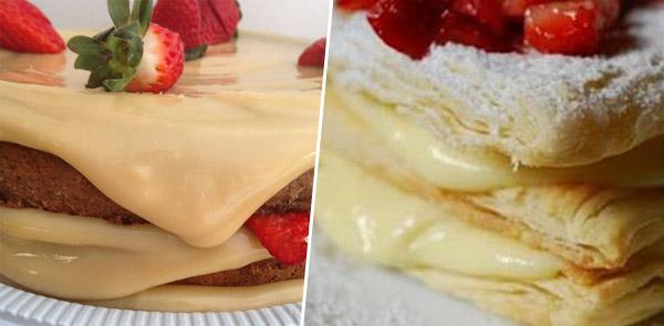 Creme belga para rechear bolo e tortas