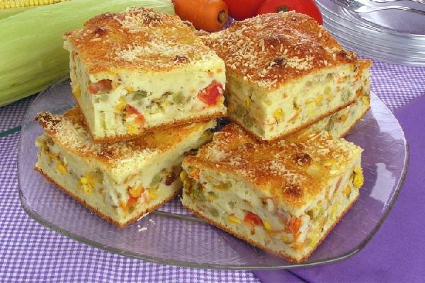 Torta de legumes de liquidificador muito fácil de fazer