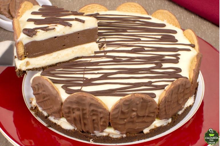 Torta dueto de chocolate uma explosão de sabor
